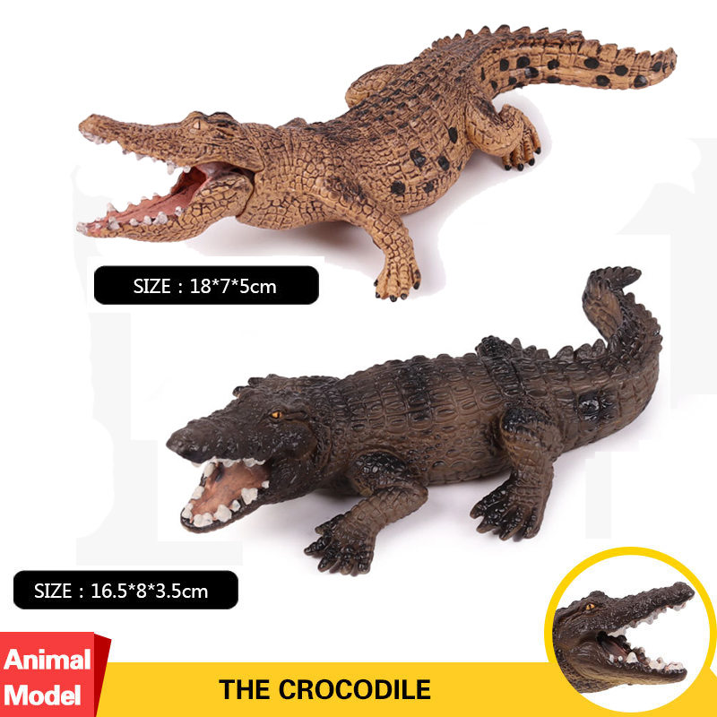 2pcs/set Action&Toys Figure Wildlife Animal Crocodile PVC Model Collectible Doll Figure Collection For Kid Childrens Gift