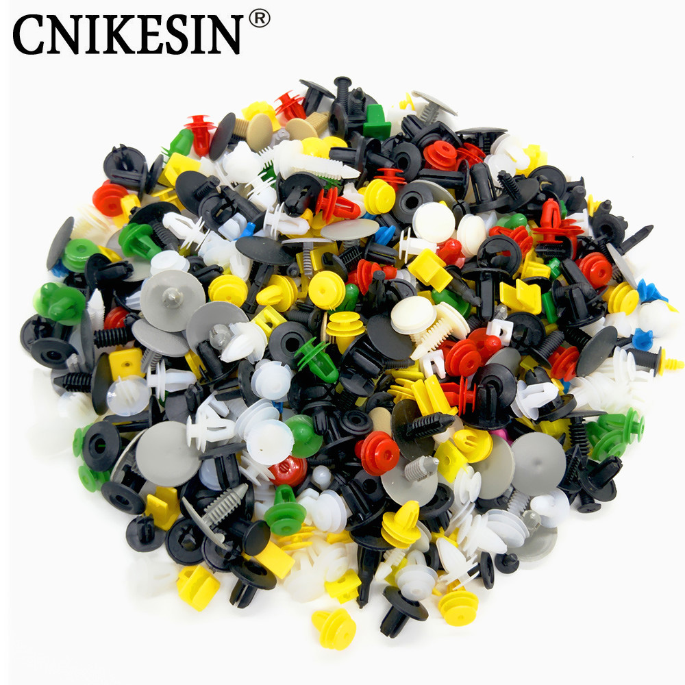 CNIKESIN 200Pcs Universal Mixed Auto Fastener Car Bumper Clips Retainer Car Fastener Rivet Door Panel Fender Liner for all car(China)
