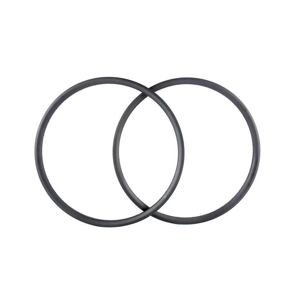 bicycle rim 700C carbon fiber mountain bike rims 27.5er tubeless new style 30 35mm wide hookless 3k/ud glossy/matte carbon rims