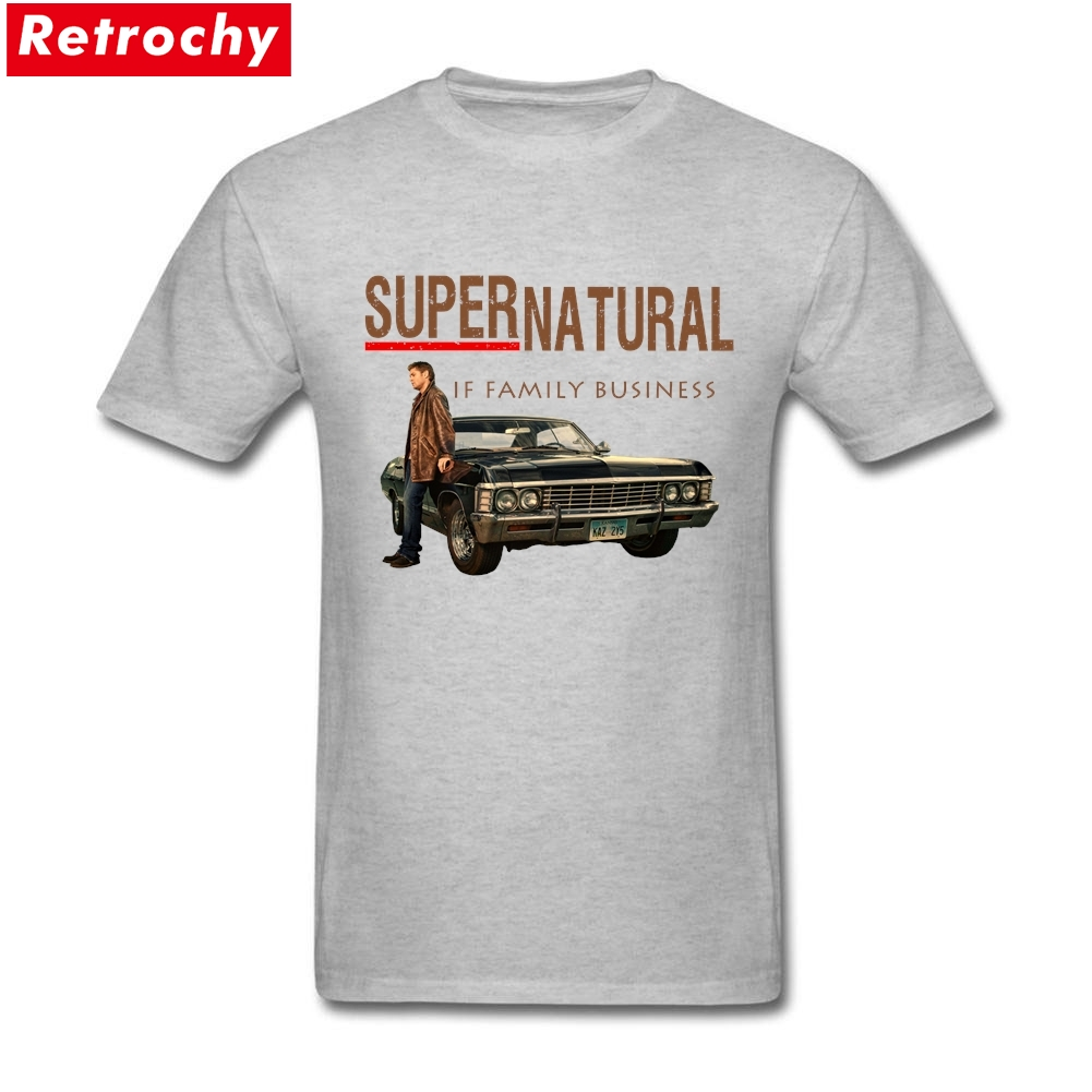 2017 Retro Supernatural merchandise T Shirt Short Sleeve Tee Shirt XXXL Hip Hop TV Shirts Official Supernatural Merchandise