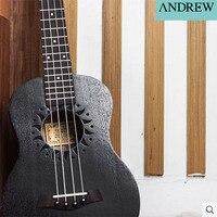 Andrew 21 Inch 23 Inch 26 Inch Black Sunflower Uukiri Beginner Uke Lili Handmade