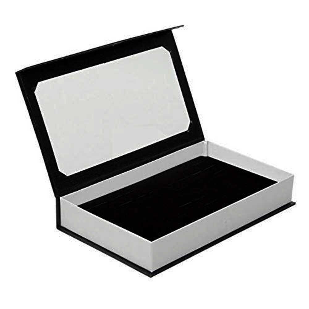SZanbana boîte à bagues haute qualité à 72 fentes bijoux en velours présentoir à bagues boîte de rangement de bijoux pour boucles d'oreilles Bracelets colliers et bagues