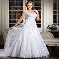 Elegante Brautkleid vestido de boda Simple 2015 casamento robe de mariee con el botón Vestidos de Novia Baratos