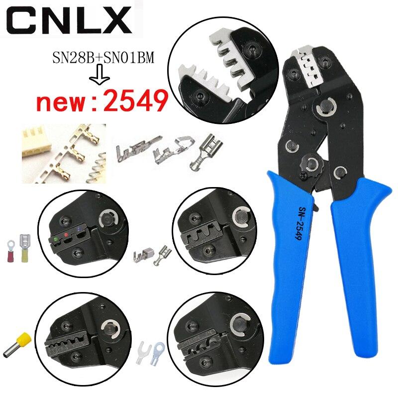 SN-2549 crimping pliers 0.08-1mm2 20-10AWG XH2.54/PH2.0/2510 SM plug tab terminals SN-48B/02C/06WF/06 for tube insulation tools