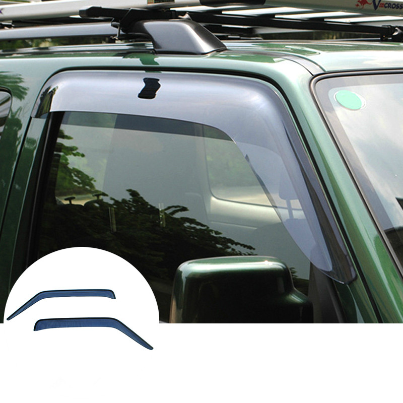 For Suzuki Jimny Window Visor Vent Shades Sun Rain Guard 2007-2015 2pcs хромовые накладки для авто guard rain shield sun visor vent sun hyundai tucson ix35