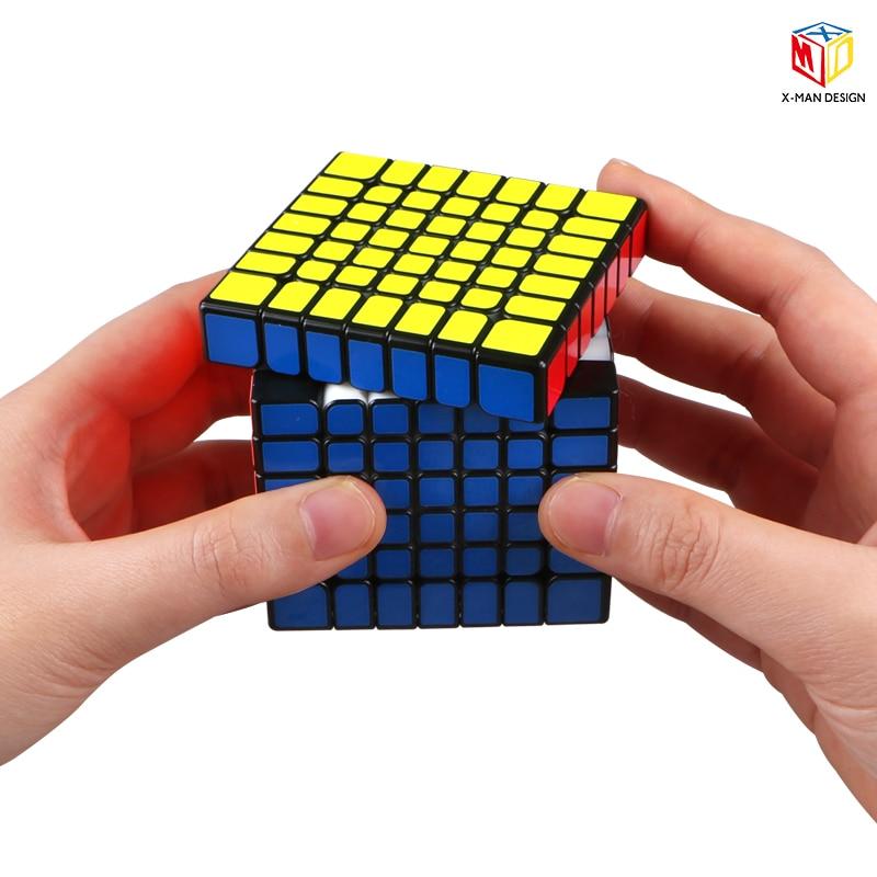 Plus récent Qiyi x-man conception étincelle et étincelle M 7X7x7 Cube magnétique professionnel Mofangge 7x7 magique vitesse Cube torsion jouets éducatifs - 3