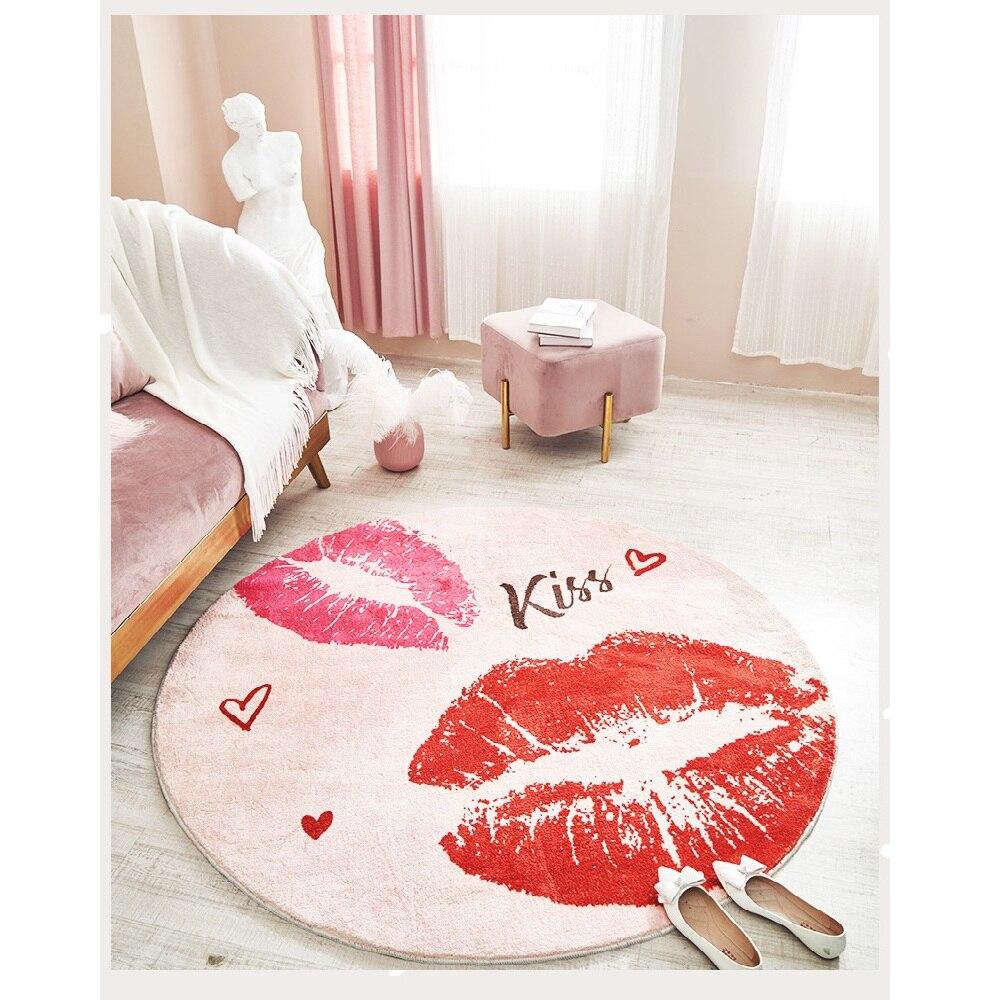Mode tapis rond chambre ins chambre salon table basse tapis de chevet tapis anti dérapant tapis fort absorbant - 2