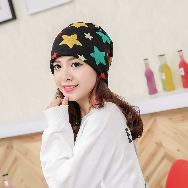 Five-pointed Star Beanies Windproof Maternity Cap Skullies Pregnant Mother Windproof Hat Autumn Winter Hood Warm Caps