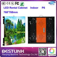 P6 Indoor Led Display Screen Rental Screen With Aluminum Cabinet P6 Smd Rgb Led Panel Board