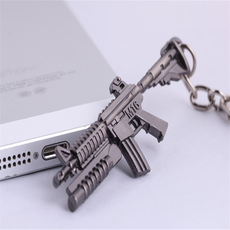 Hot Pop Game CF Cross Fire 65mm M16 assault rifle Weapon 3D Model Metal Pendant Keychain key ring toy gun  -  AnimeFuns Store store