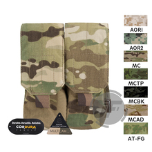 Emerson Tactical MOLLE PALS 5.56 .223 Double Magazine Pouch Emersongear Ammo Holder Bag for M14 M16 AR15 - Multicam