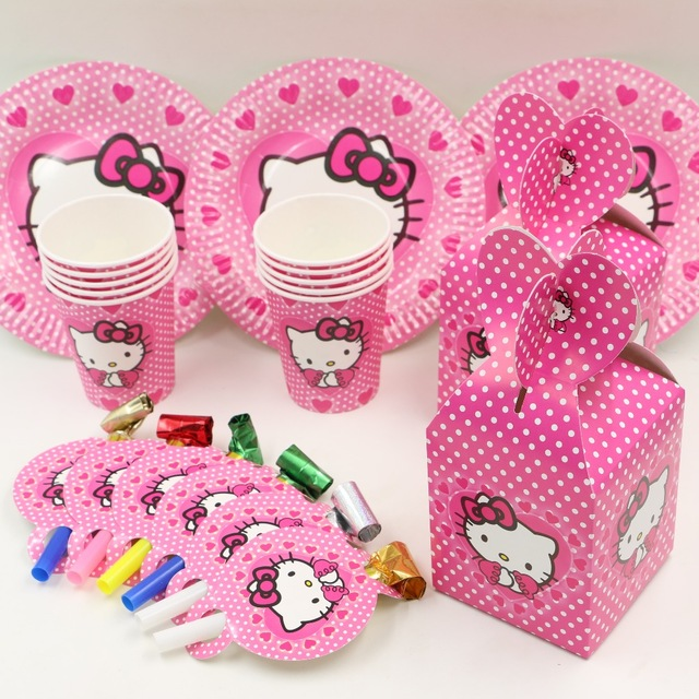 44pcs hello kitty kids favors and gift birthday party decoration
