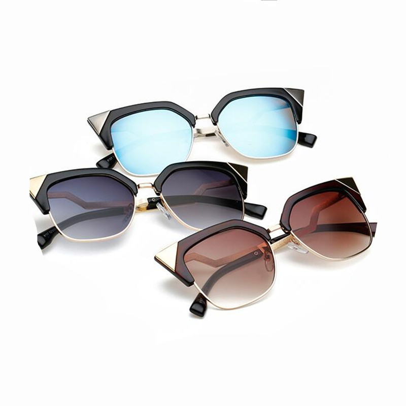 2018 Oculos De Sol Feminino Cat Eye Sunglasses Women Vintage Sunglass Female Fashion Googles Ladies Mirror Sun Glasses YJ874