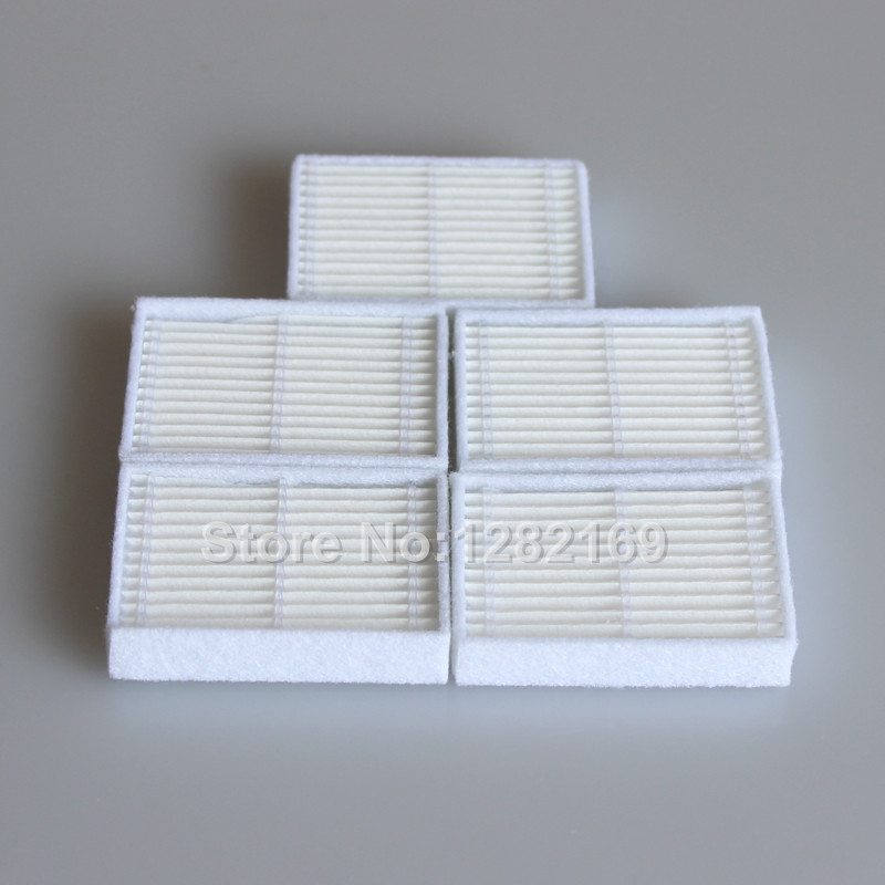 5 pieces/lot Robot HEPA filter replacement for ISEELIFE PRO1 PRO1S PRO2S Robot Vacuum Cleaner Parts Accessory 5 pieces lot ariete robotic cleaner hepa filter replacement for ariete briciola 2711 2712 2713 easyhome 2717