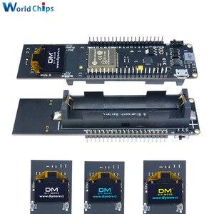 Плата разработки ESP8266 с Bluetooth, модуль с поддержкой Wi-Fi и аккумулятором 18650, 0,96 дюйма, OLED дисплей, белый/синий/желтый цвет