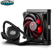 Cooler Master B120 CPU Liquid Cooler 120mm Red LED quiet fan For Intel 1151 1150 2011 2066 and AMD AM4 CPU water cooler
