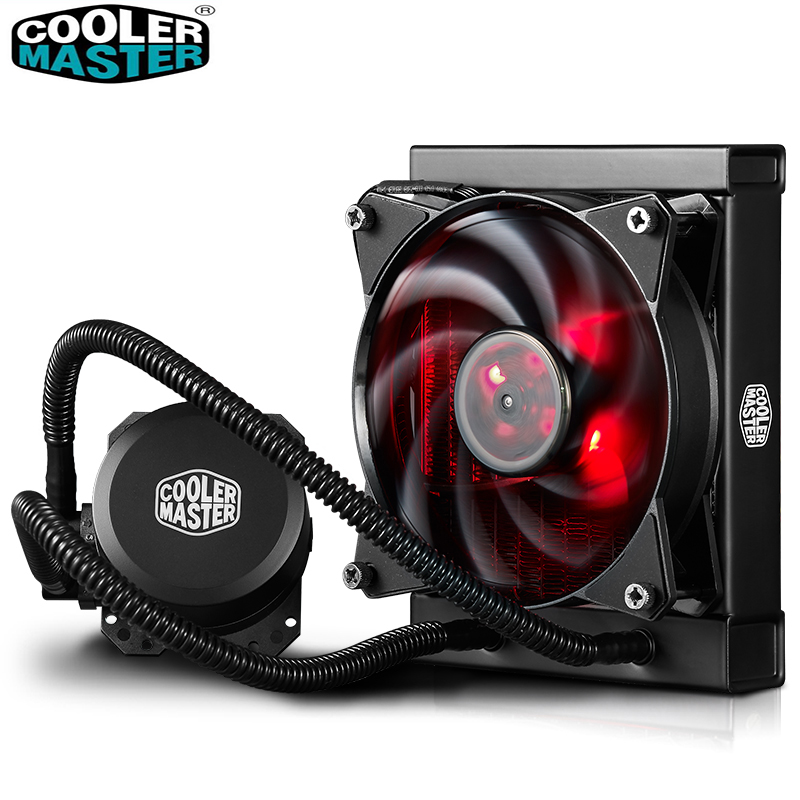 Cooler Master B120 CPU Liquid Cooler 120mm Red LED quiet fan For Intel 1151 1150 2011 <font><b>2066</b></font> and AMD AM4 CPU water cooler image