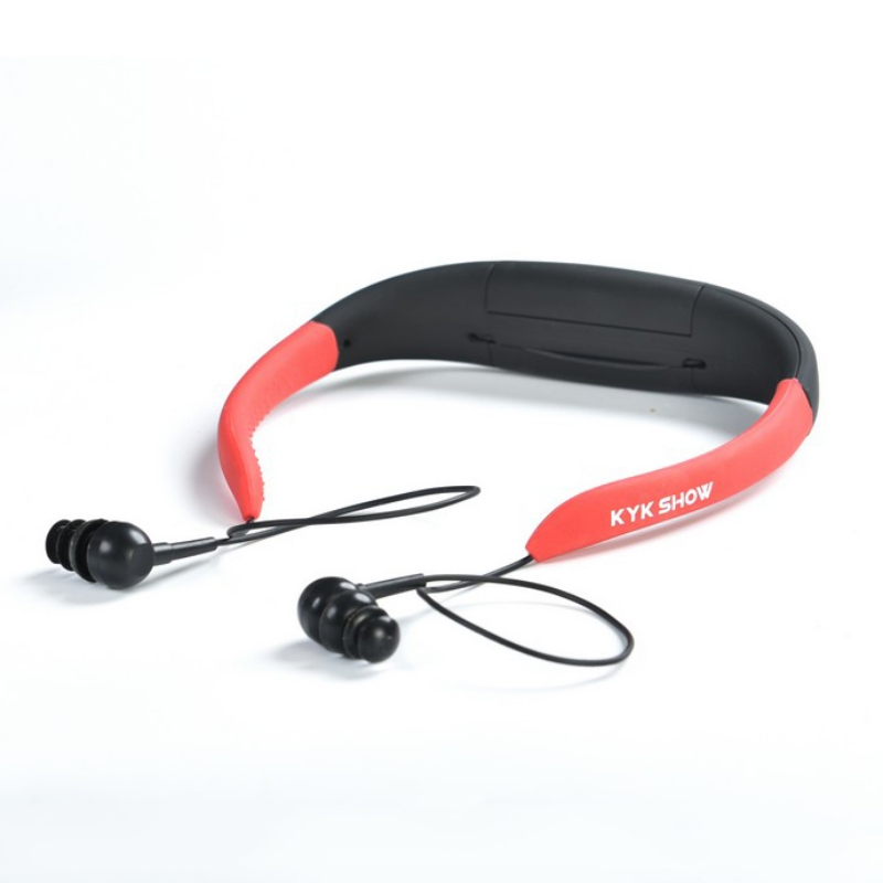 Waterproof 8GB MP3 Underwater Music Player Stereo Earphone Audio with FM for Swimming Sport Running Headphones qinyin md 99 stereo headphones mp3 player w tf fm black