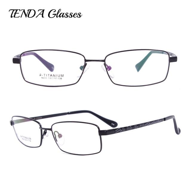 041c8359d مرنة التيتانيوم النظارات كامل حافة إطارات النظارات الطبية للرجال في ...