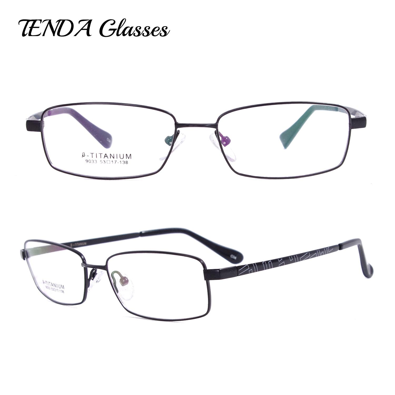 Flexível De Titânio Aro Completo Armações de Óculos de Prescrição de Óculos  Para Homens em Armações de óculos de Acessórios de vestuário no  AliExpress.com ... 5f5f66a255
