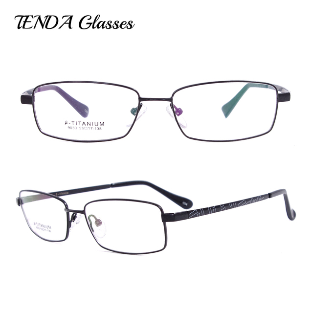 44e489a533 Flexible Titanium Full Rim Glasses Frames Prescription Eyeglasses For Men