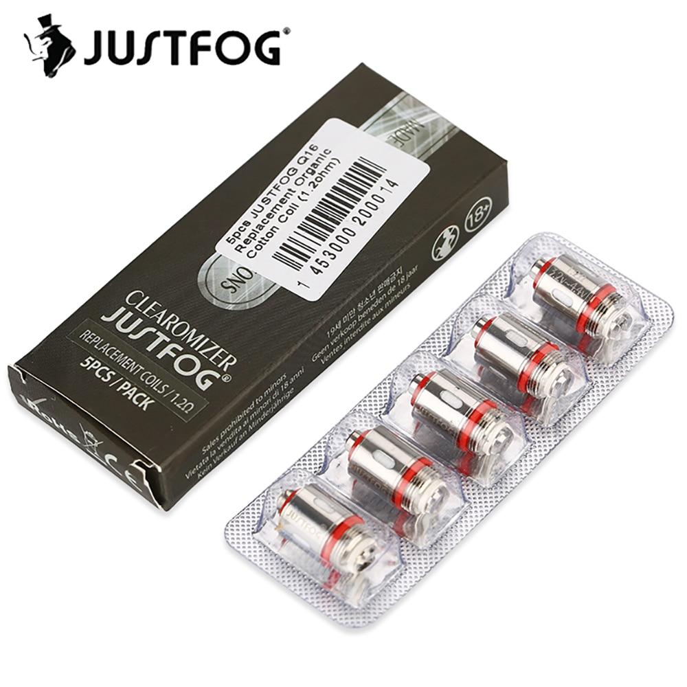 100% Original JUSTFOG Organic Cotton Coil 1.2ohm/1.6ohm For Justfog C14/Q14/Q16/P16A/P14A Kit Electronic Cigarette Justfog Coil