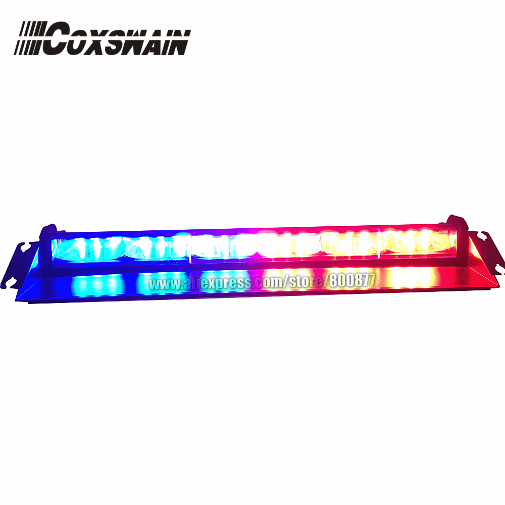 High brightness LED dash light, LED visor light, emergency warning light LED windshield light, 3W LED, powered by cigarette plug