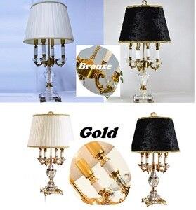 Image 4 - Pha Lê hiện Đại Đèn chiếu sáng phòng ngủ đèn ngủ thời trang cao cấp đèn bàn pha lê Abajur đầu giường khách sạn Đèn bàn K9 Cao Cấp