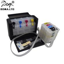 BOMA LTD 82 11 Ciss sistema de suministro continuo de tinta para HP82 11 Ciss permanente Reset Auto arco Chip para DesignJet Cartera de HP DesignJet 111 111R
