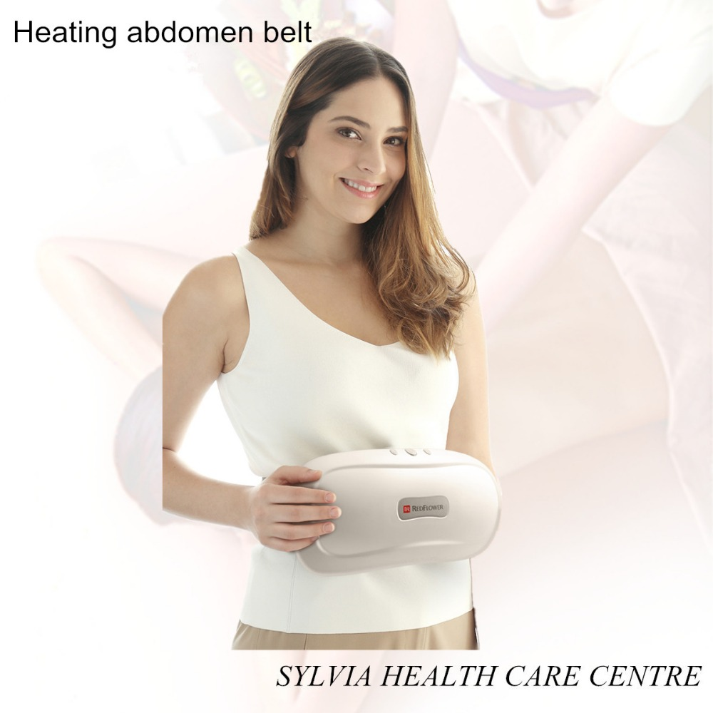 2018 Hew Heating Abdomen Massager belt heating waist cushion High frequency vibration kneading massage pillow elastic thin slimming belt magic waist abdomen massage belt black
