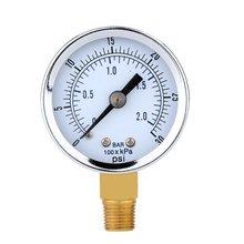 Манометр-0 ~ 30 PSI 0 ~ 2 мини-бар стрелочный индикатор компрессор метров гидравлические манометр gage двойная шкала черный