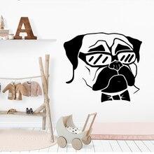 NEW Bull Dog Wall Sticker Pvc Wall Art Stickers Modern Fashion Wallsticker For Kids Rooms Nursery Room Decor Bedroom