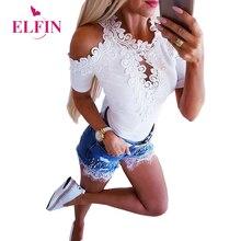 White Women T-shirt Lace Tee Shirt Femme