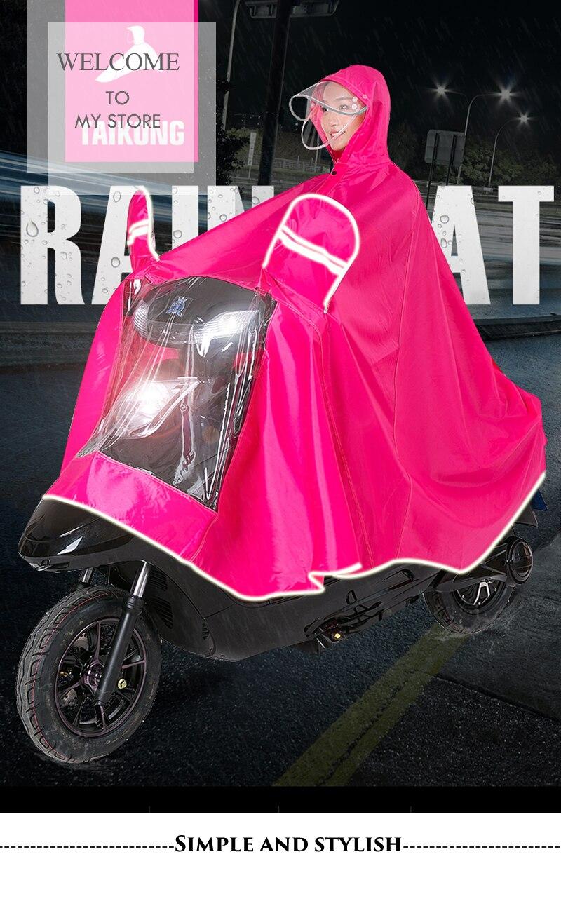Protective Gear Reasonable Double Cap Motorcycle Rider Raincoat Scooter Rain Coat Universal Raincoat-women-men Red Blue Black Xxxl Xxxxl Free Shipping Automobiles & Motorcycles