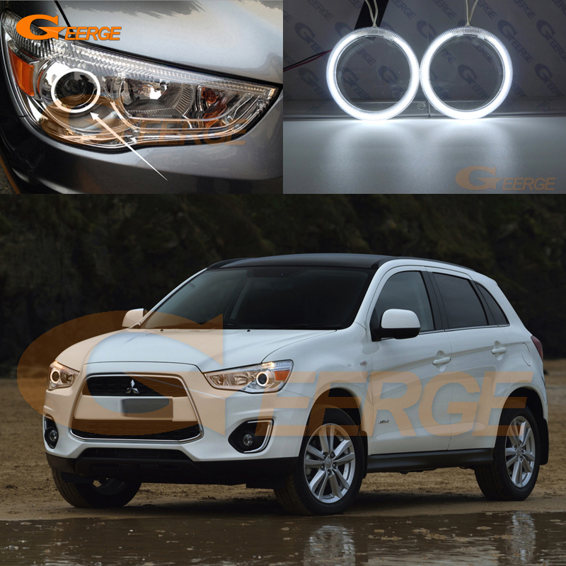 For Mitsubishi ASX 2010 2011 2012 2013 2014 2015 2016 Excellent Angel Eyes Ultra bright illumination CCFL Angel Eyes kit for mazda 3 mazda3 bl sp25 mps 2009 2010 2011 2012 2013 excellent ultra bright illumination ccfl angel eyes kit