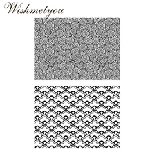 WISHMETYOU New Fashion Lace Pattern Transparent Silicone Stamps Wave Clear Diy Photo Album Decor Scrapbooking Handmaking