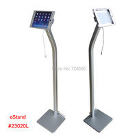 for mini iPad floor stand with charging cable display on shop hotel trade fair exhibition standing kiosk support advertising
