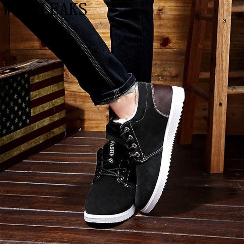 Wildleder schuhe männer winter stiefel männer designer schuhe stiefeletten männer mode schuhe 2019 kurze plüsch zapatos casuales hombres en cuero