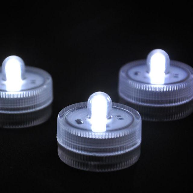 24pcslot LED White Mini Submersible Floral Vase Super Bright