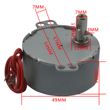 цена на TYC49 permanent magnet synchronous gear reduction motor micro motor AC speed reduction motor