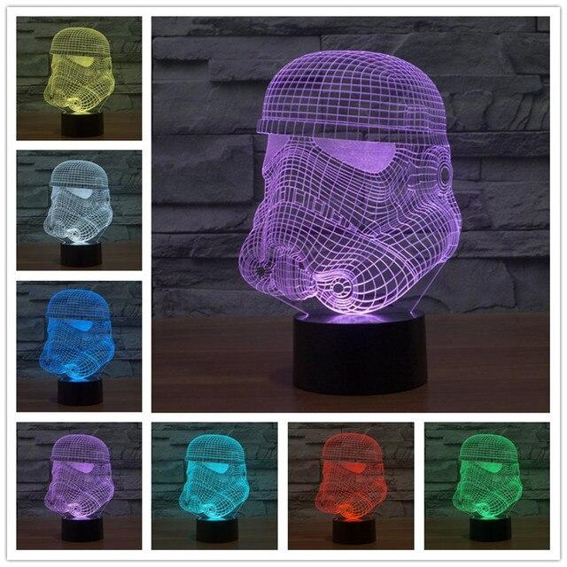 Neuheit 3D Decor Bulbing Nachtlicht Iron Man Modell Maske Spielzeug Gadget  Led Beleuchtung Hause Tischlampe