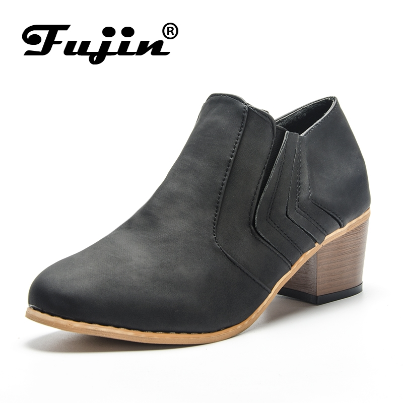 Fujin New Style Classic Fashion Design Woman Ankle Boots High Heels Women Boots Shoes High Quality Pumps Shoes Winter Boots