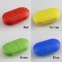 Portable Health Care Candy Colors Sort Folding Vitamin Medicine Pill Box Makeup Storage Case Container Pill Cases & Splitters
