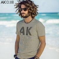 AK CLUB Brand T Shirt Cotton Peace Work Life AK LOGO Print T Shirt 100 Cotton