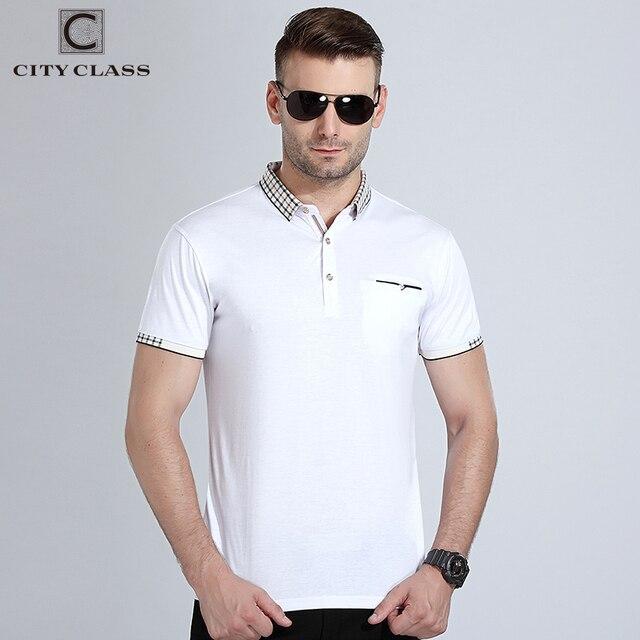 City class новая мужская polo рубашки двойной цвет пике ткань с коротким рукавом дышащий бизнес моды случайные мужской polo shirt деловой стиль комфортный ткань 17177