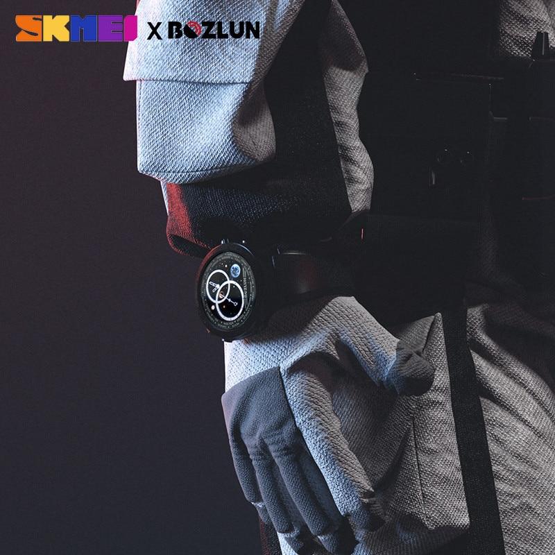 SKMEI LED дисплей мужские цифровые часы Калории пульсометр шаги спортивные часы Montre Homme Relogio Masculino W31 часы - 4