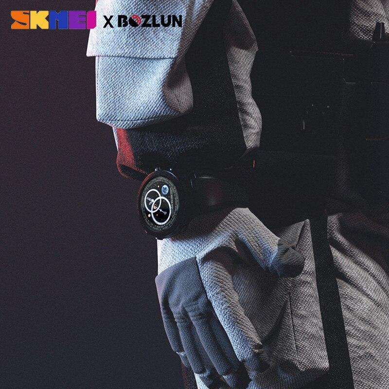 Skmei homem digital smartwatch bluetooth esporte relógios monitor de freqüência cardíaca fitness sono rastreador masculino à prova dwaterproof água relógio inteligente - 4