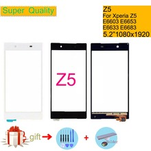 Touchscreen For Sony Xperia Z5 E6603 E6653 Touch Screen Digitizer Front Glass Z5 Dual E6633 E6683 Touch Panel Sensor Lens NO LCD touchscreen for sony st21i for xperia tipo st21i2 for xperia tipo touch screen touch panel glass free shipping