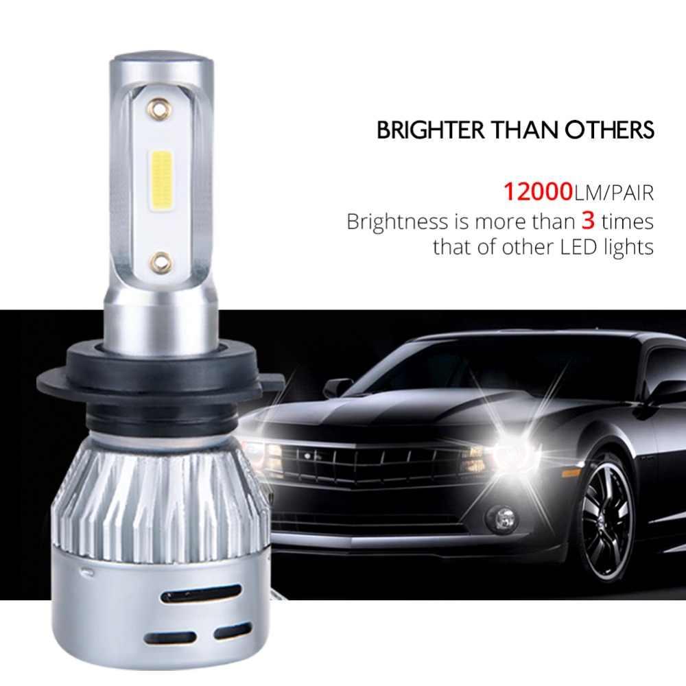Avacom 2 Pieces H7 H4 LED Mini Car Bulb Headlight 9005 HB3 9006 HB4 6500K DOB Chip 12000Lm 72W 12V 24V LED H11 H8 Auto Headlamp
