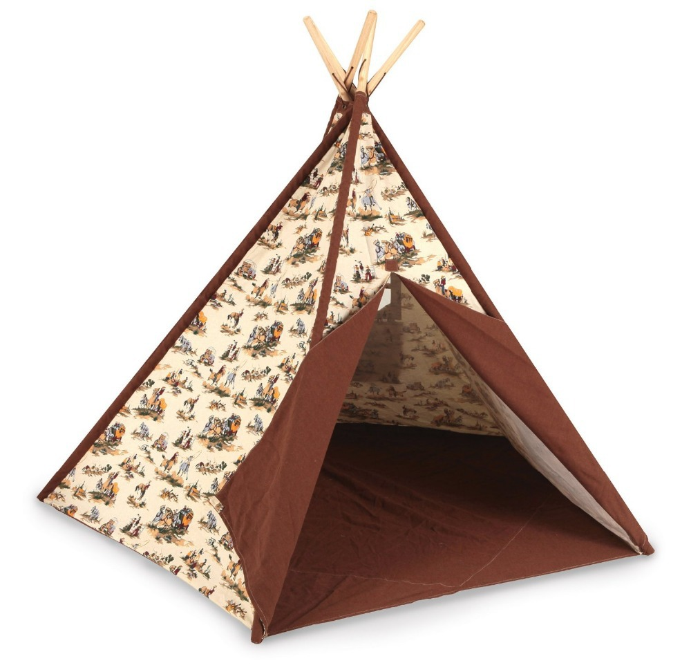 Cowboy Kids Play Teepee Tent Children Playhouse Tent Toy Tent for Boys-in Tents from Sports u0026 Entertainment on Aliexpress.com | Alibaba Group  sc 1 st  AliExpress.com & Cowboy Kids Play Teepee Tent Children Playhouse Tent Toy Tent for ...